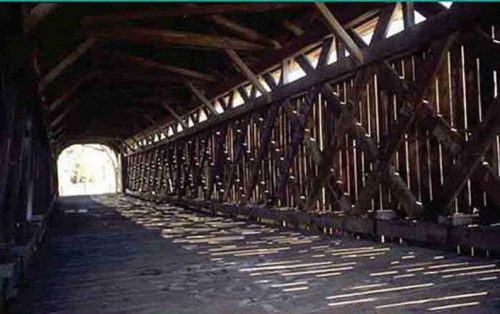 Mull Road Covered Bridge Interior